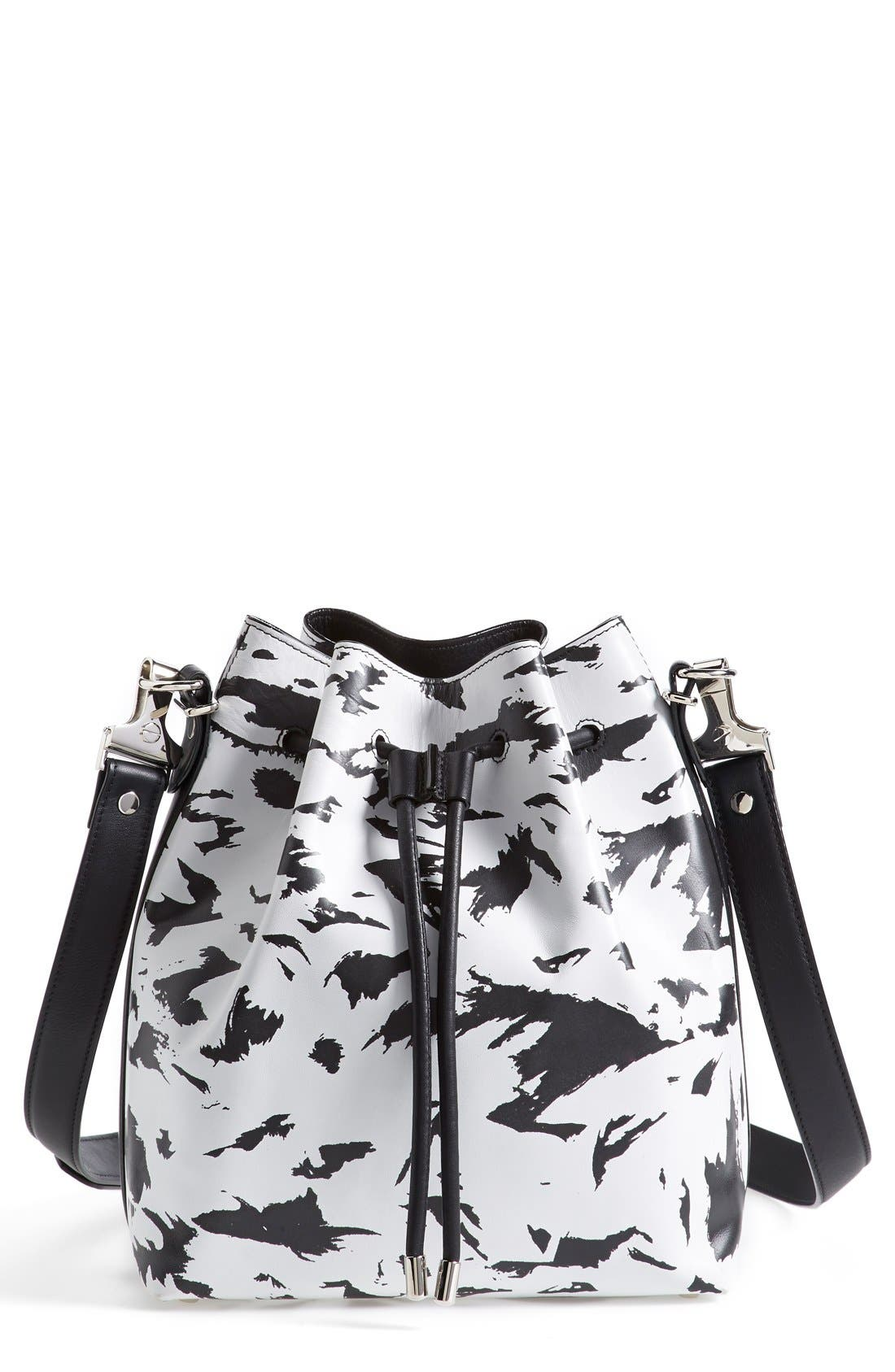Alternate Image 1 Selected - Proenza Schouler 'Medium' Feather Print Leather Bucket Bag