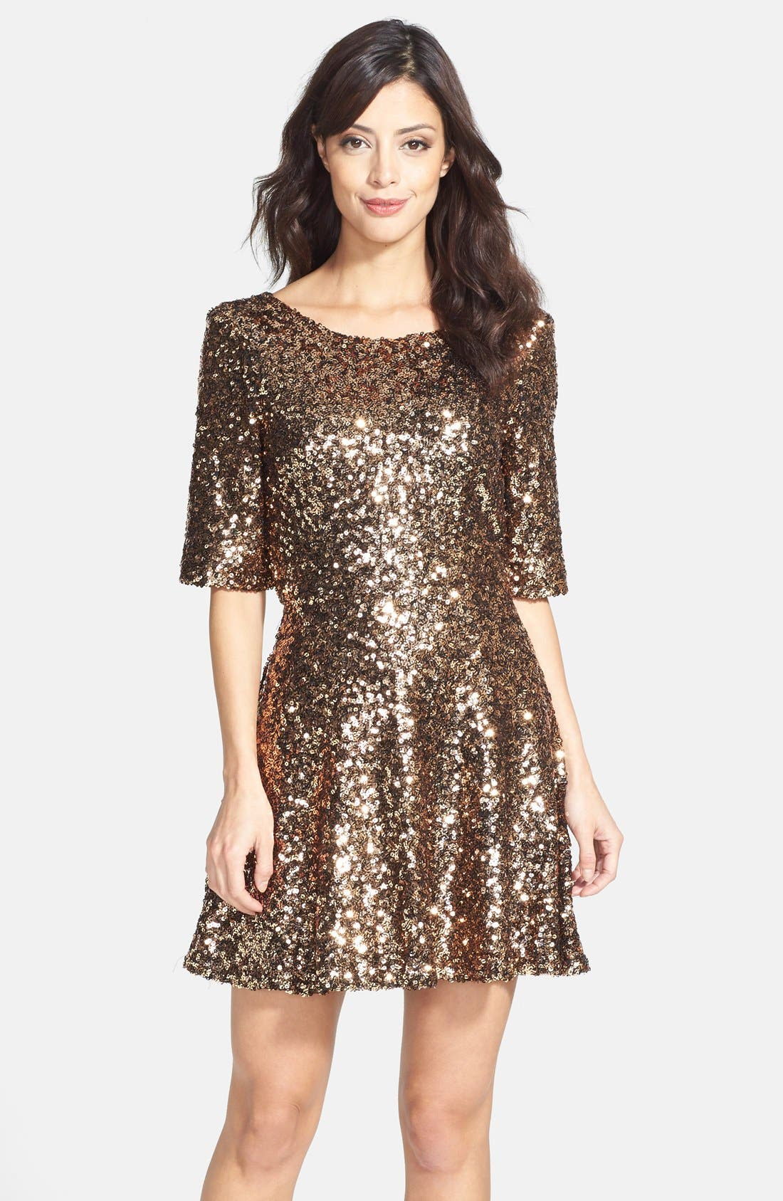 Main Image - French Connection 'Ozlem' Sequin Fit & Flare Dress
