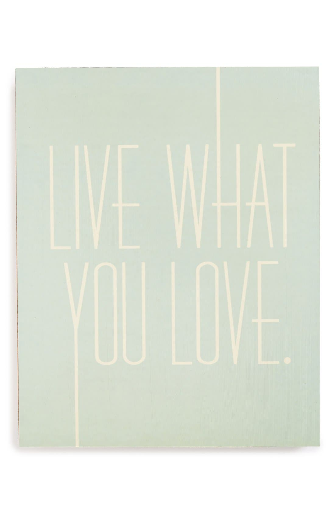 Alternate Image 1 Selected - Lucius Designs 'Live What You Love' Wall Art