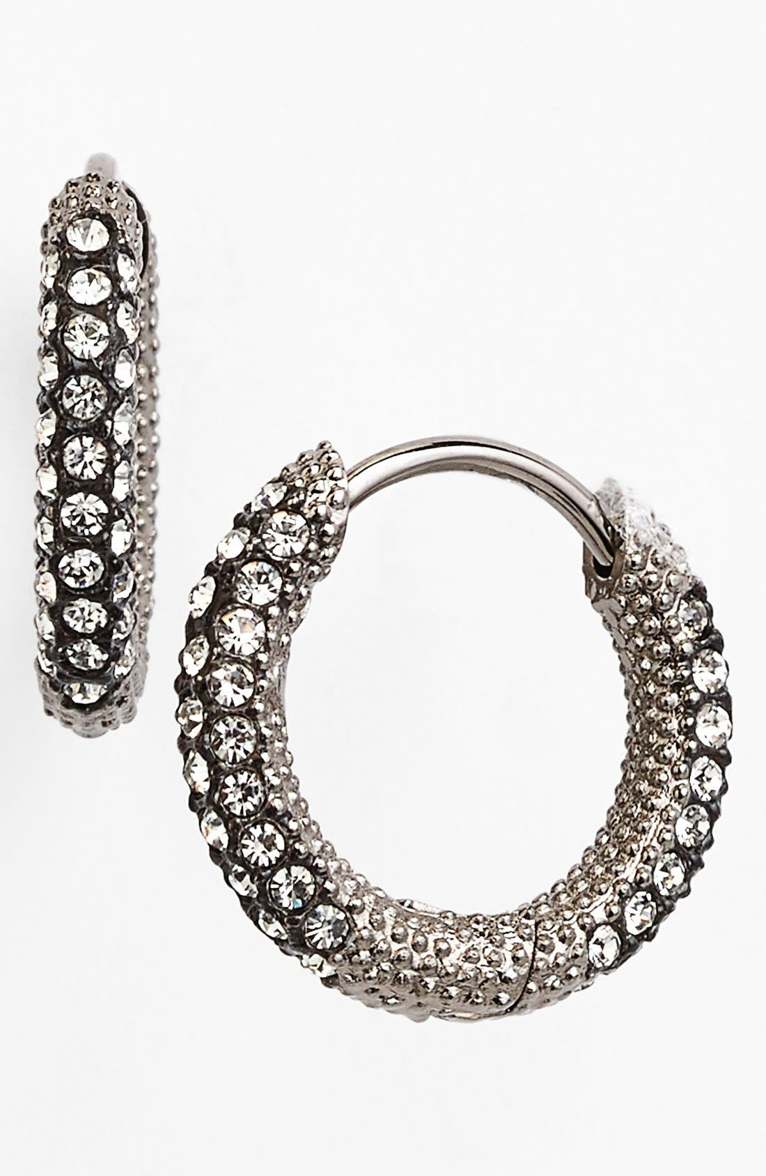 Main Image - Nadri Oval Inside Out Pavé Hoops
