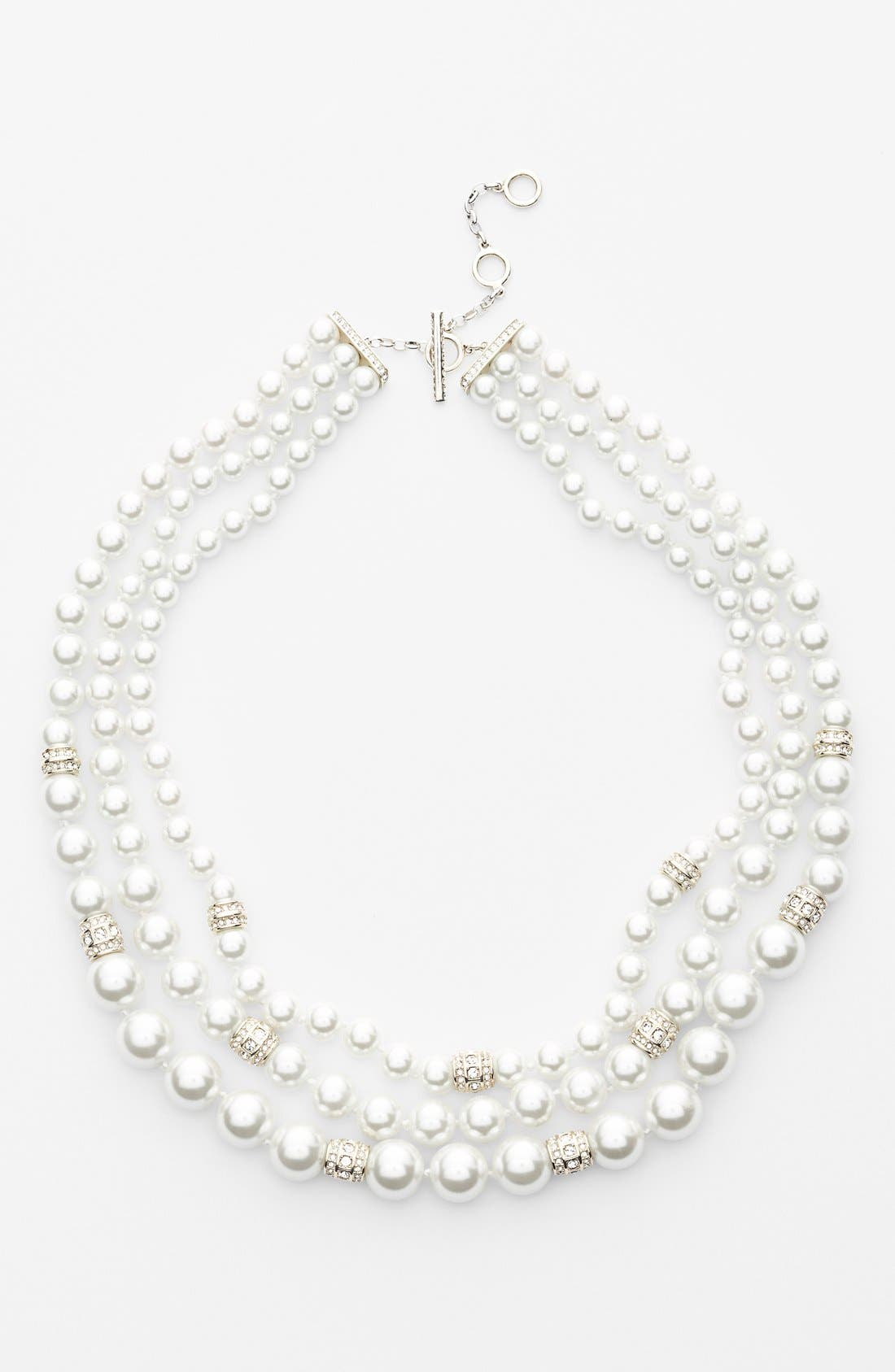 Alternate Image 2  - Judith Jack 'Gala' Three-Row Faux Pearl Necklace