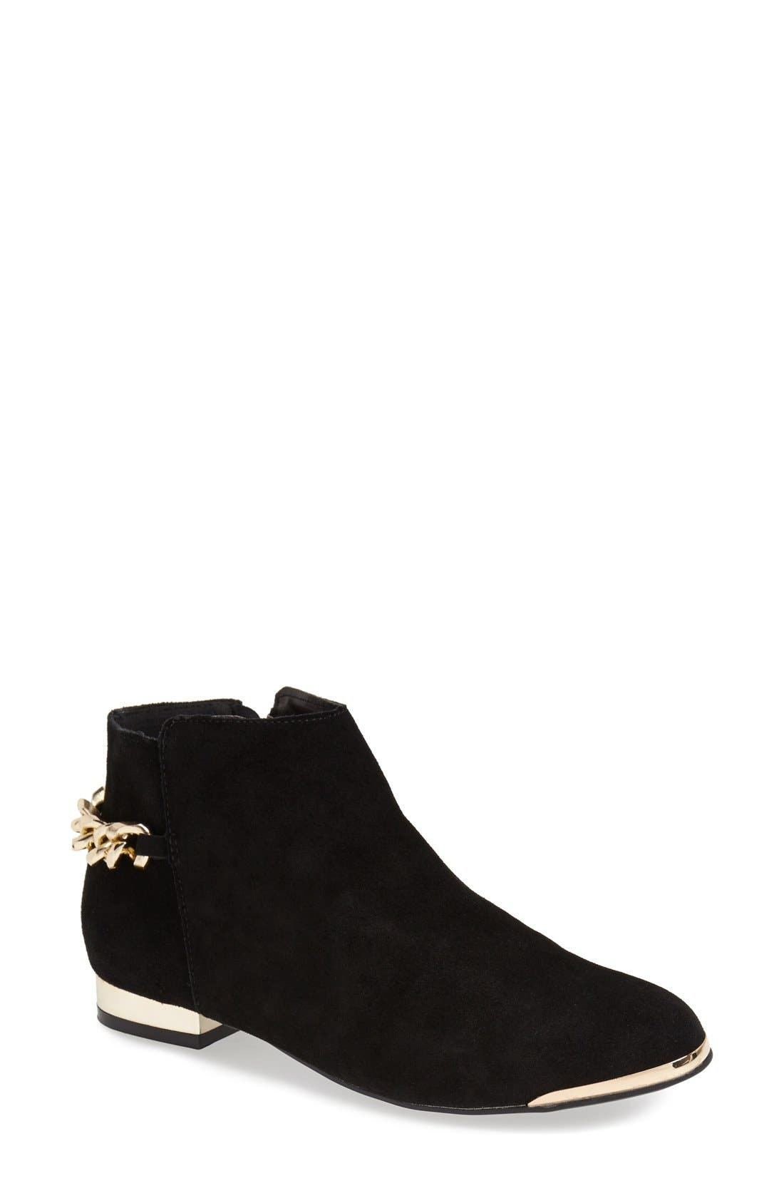 Alternate Image 1 Selected - Topshop 'Bam Bam' Gold Chain Chelsea Boot (Women)