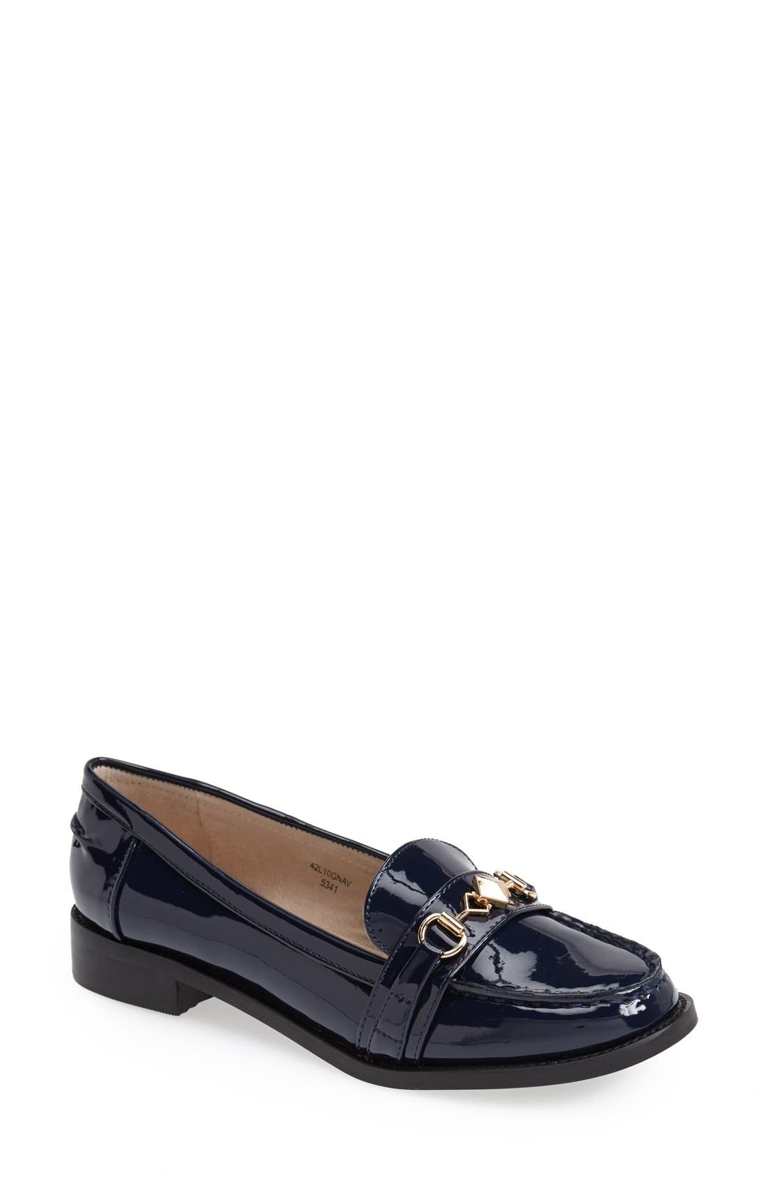 Main Image - Topshop 'Latch' Trim Loafer (Women)