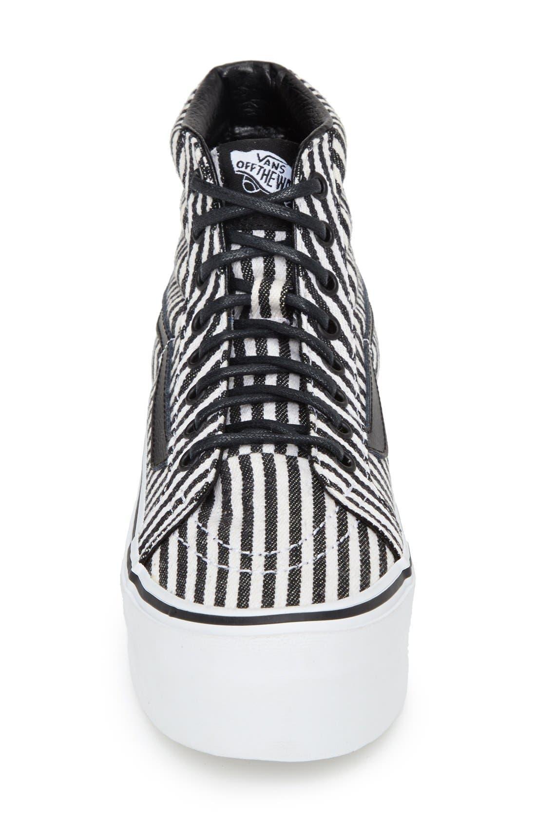 Alternate Image 3  - Vans 'Hickory Stripes Sk8-Hi Platform' Sneaker (Women)