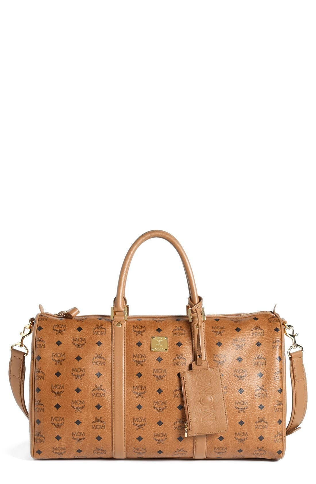 Alternate Image 1 Selected - MCM 'Large Heritage' Coated Canvas Weekend Duffel Bag