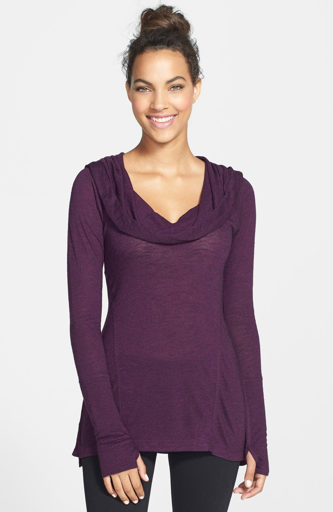 Alternate Image 1 Selected - Zella 'All Shirred Up Too' Pullover