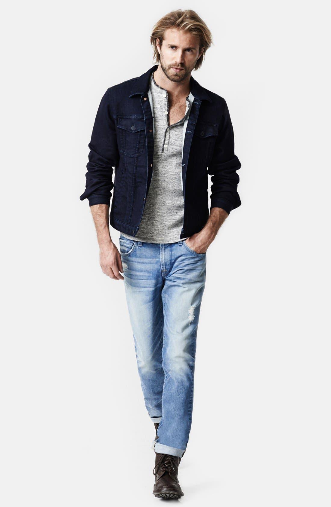 Alternate Image 4  - 7 For All Mankind® Modern Knit Jean Jacket