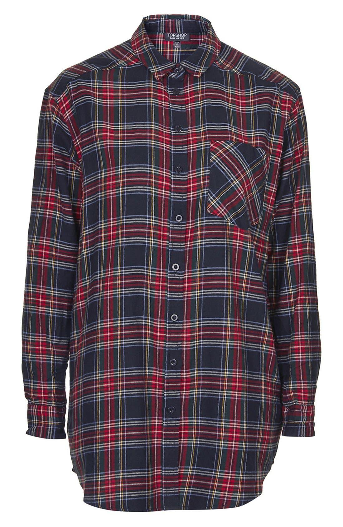Alternate Image 3  - Topshop 'Ortise Gala' Oversize Check Shirt