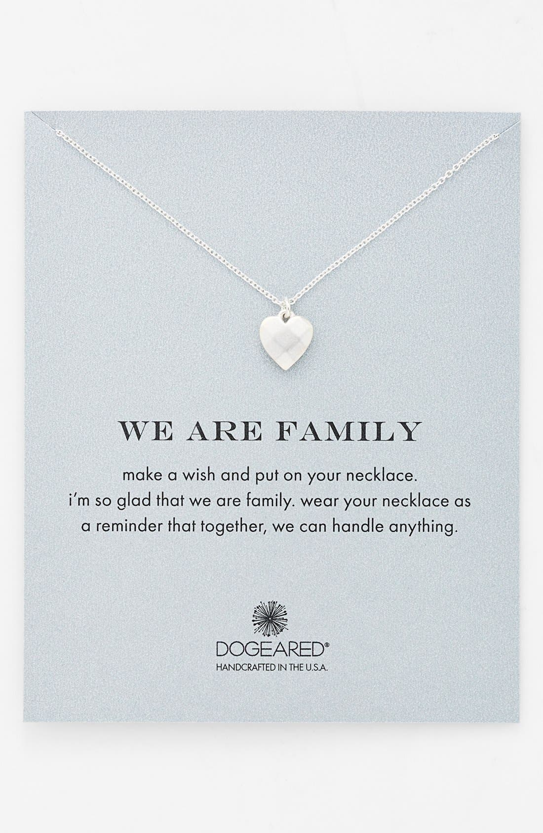 Alternate Image 1 Selected - Dogeared 'We Are Family' Boxed Pendant Necklace
