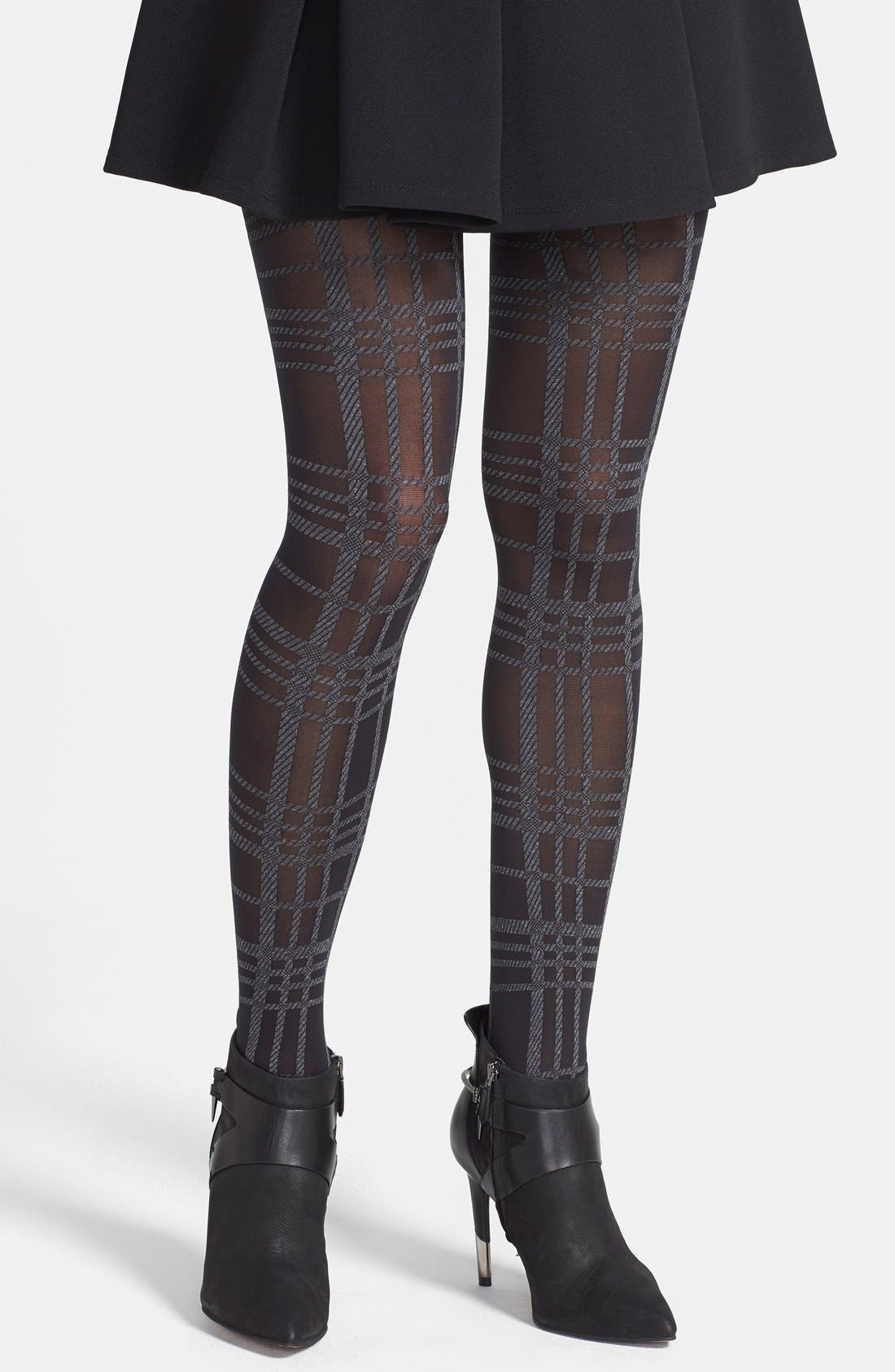 Main Image - Via Spiga 'Kensington' Plaid Tights
