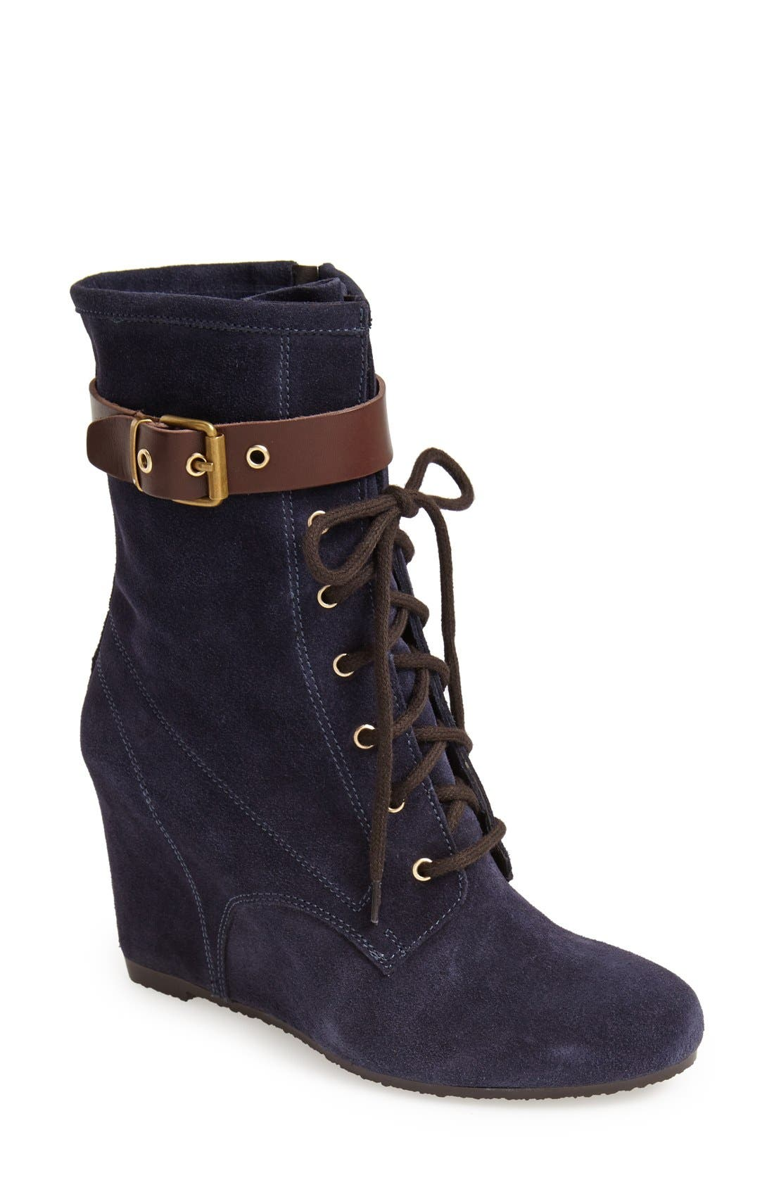 Alternate Image 1 Selected - André Assous Suede Wedge Boot (Women)