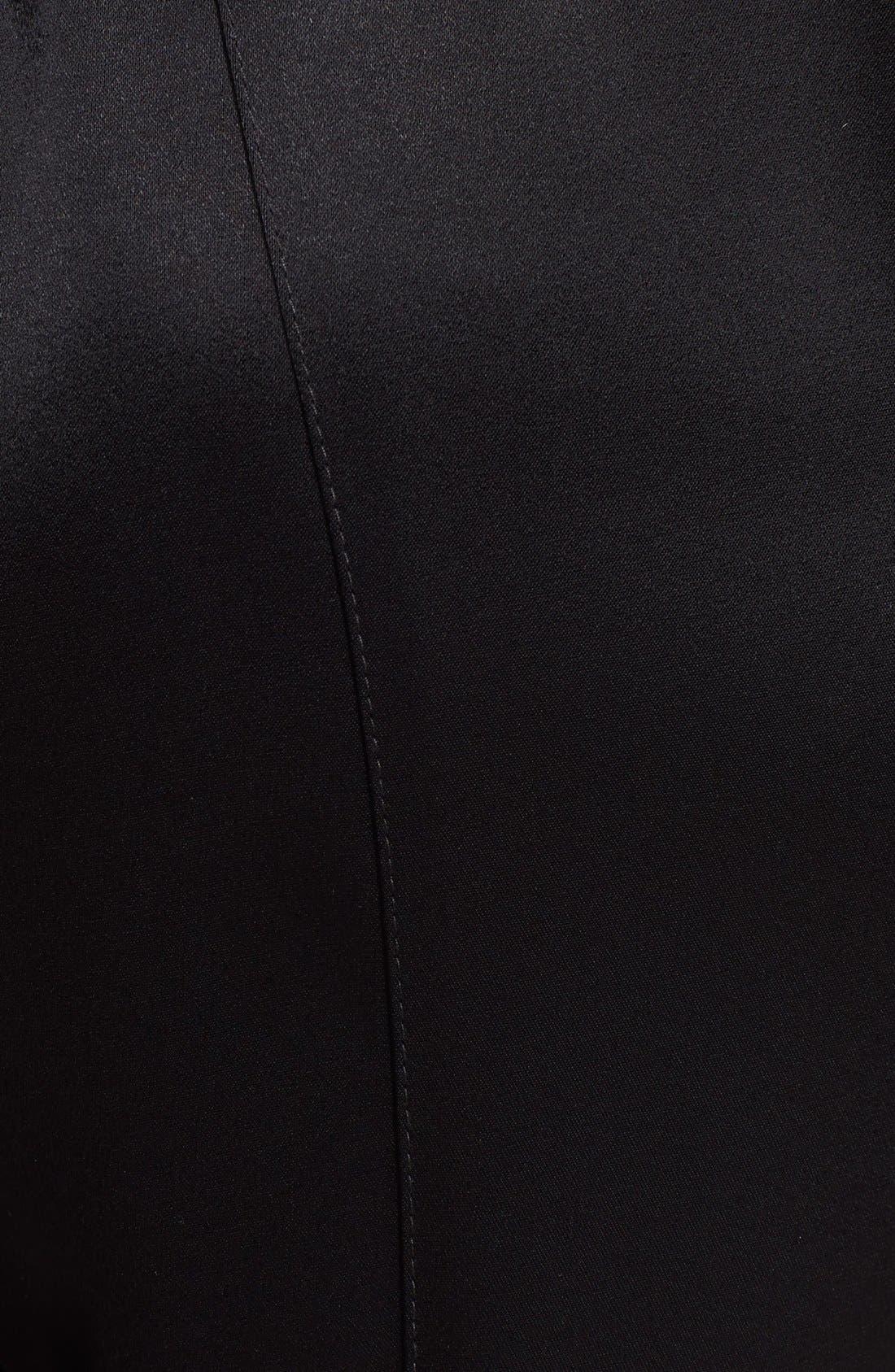 Alternate Image 3  - St. John Collection Zip Hem Liquid Satin Crop Pants