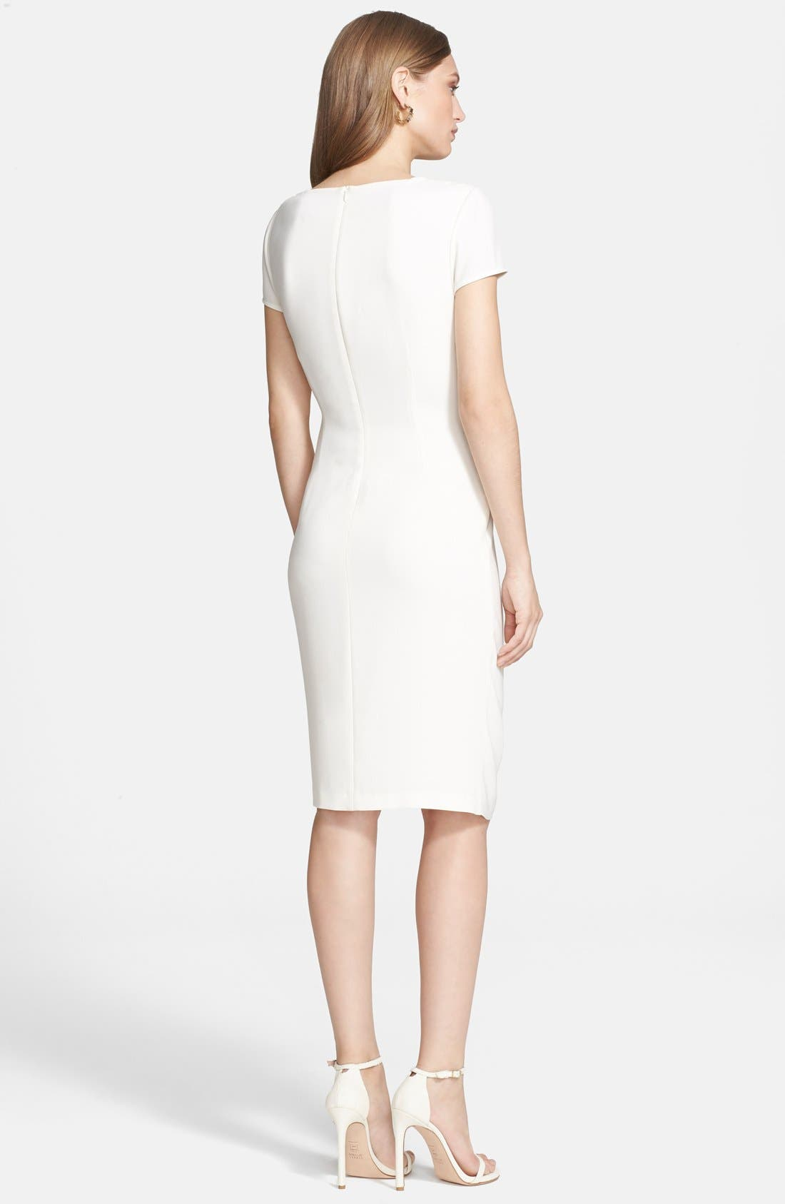 Alternate Image 2  - St. John Collection Gathered Luxe Crepe Dress