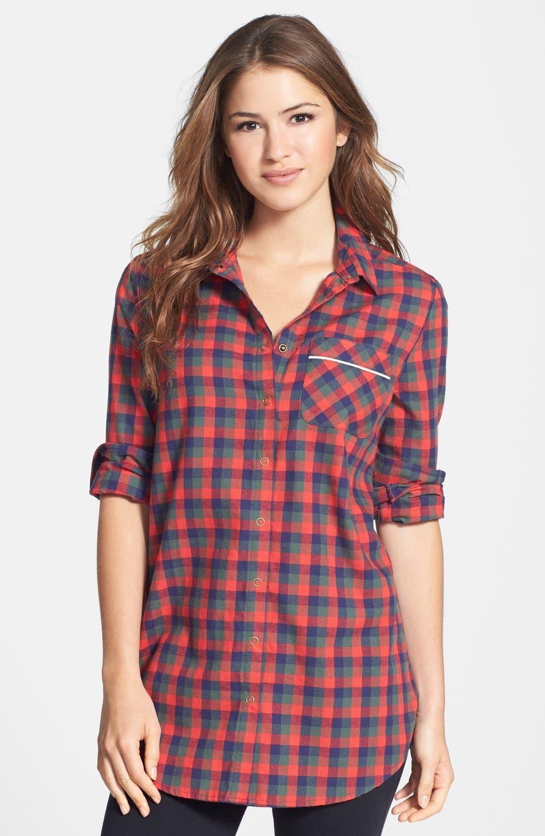 Alternate Image 1 Selected - Make + Model Flannel Nightshirt