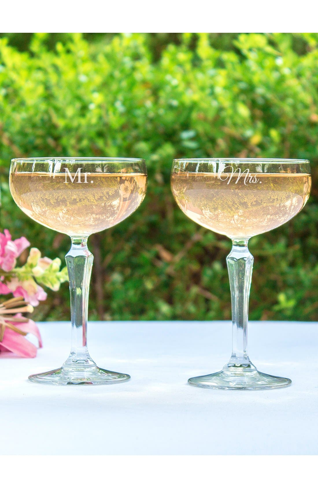 Cathy's Concepts 'For the Couple' Etched Champagne Coupe Toasting Glasses (Set of 2)