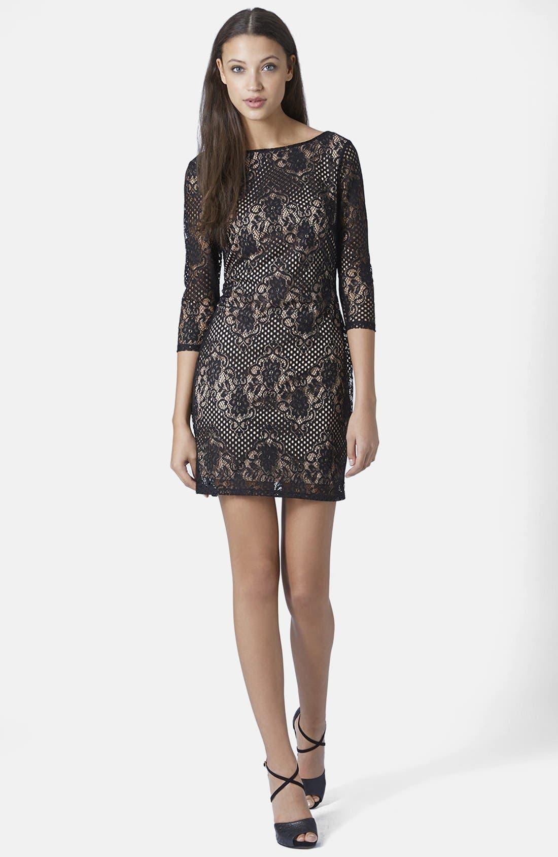 Alternate Image 5  - Topshop Scallop Lace Body-Con Dress