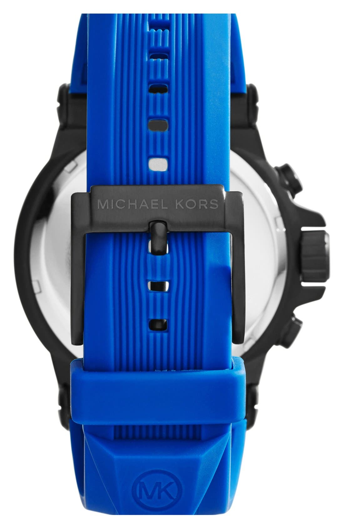 Alternate Image 3  - Michael Kors 'Dylan' Chronograph Silicone Strap Watch, 48mm