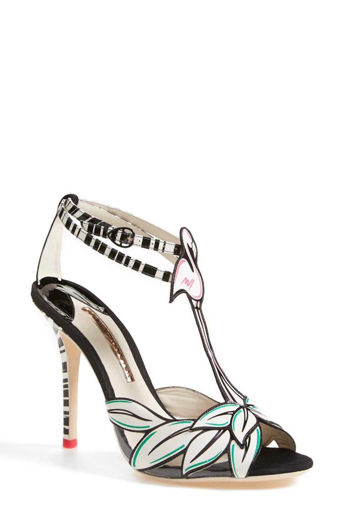 Alternate Image 1 Selected - Sophia Webster 'Flamingo' T-Strap Leather Sandal (Women)