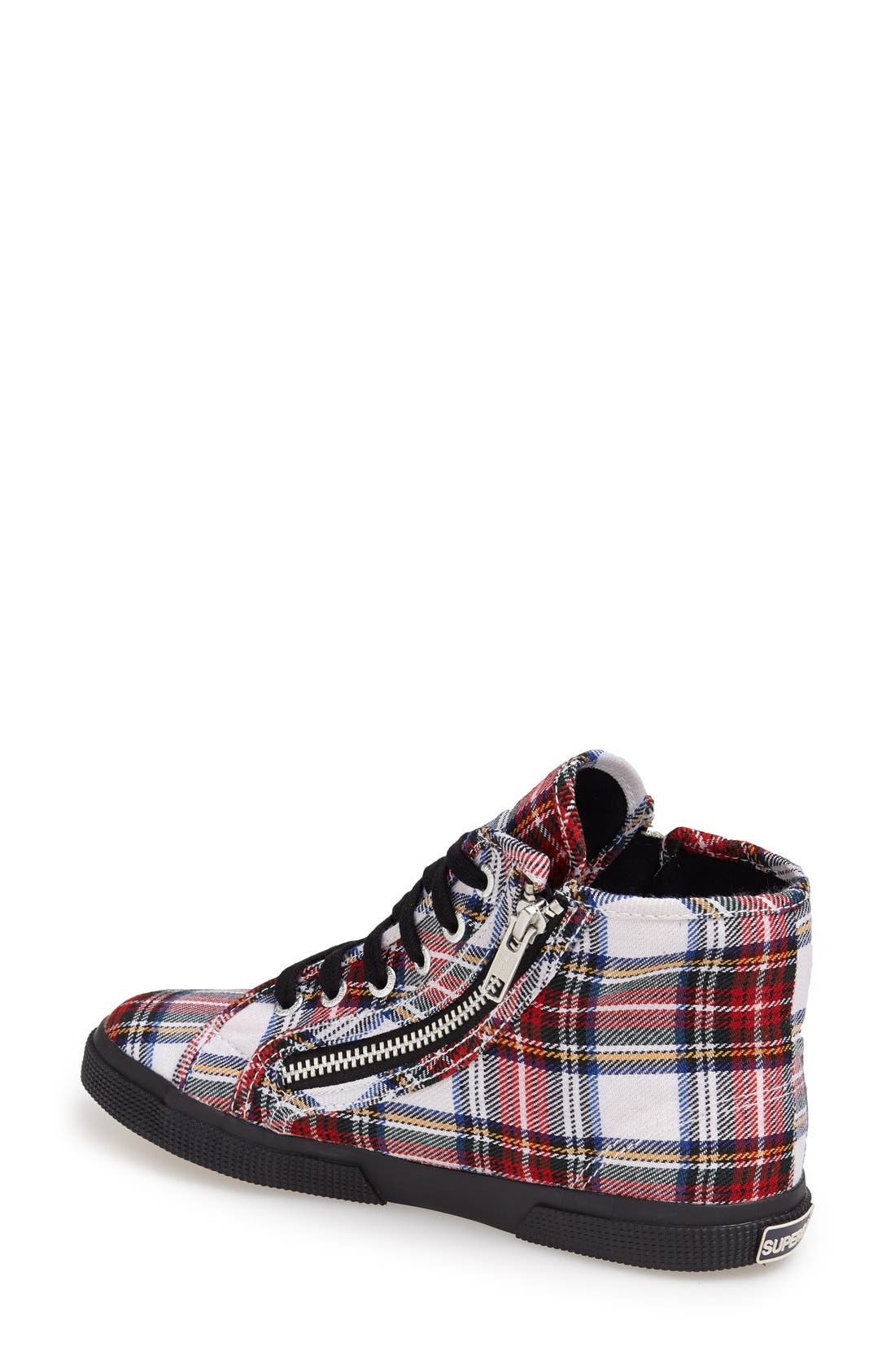 Alternate Image 2  - Superga Tartan Print High-Top Sneaker (Women)