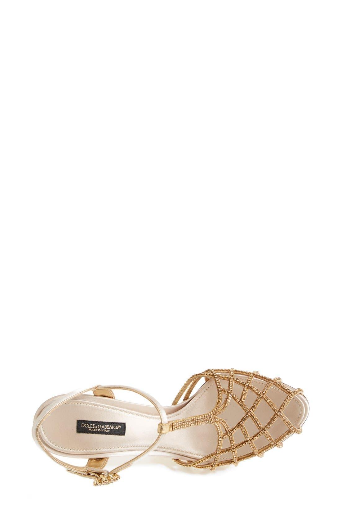 Alternate Image 3  - Dolce&Gabbana Crystal T-Bar Sandal (Women)