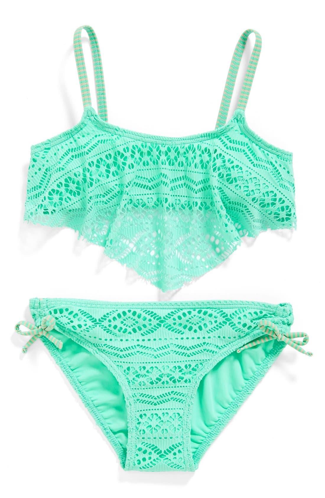 Gossip Girl 'Little Wild One' Two-Piece Swimsuit (Big ...