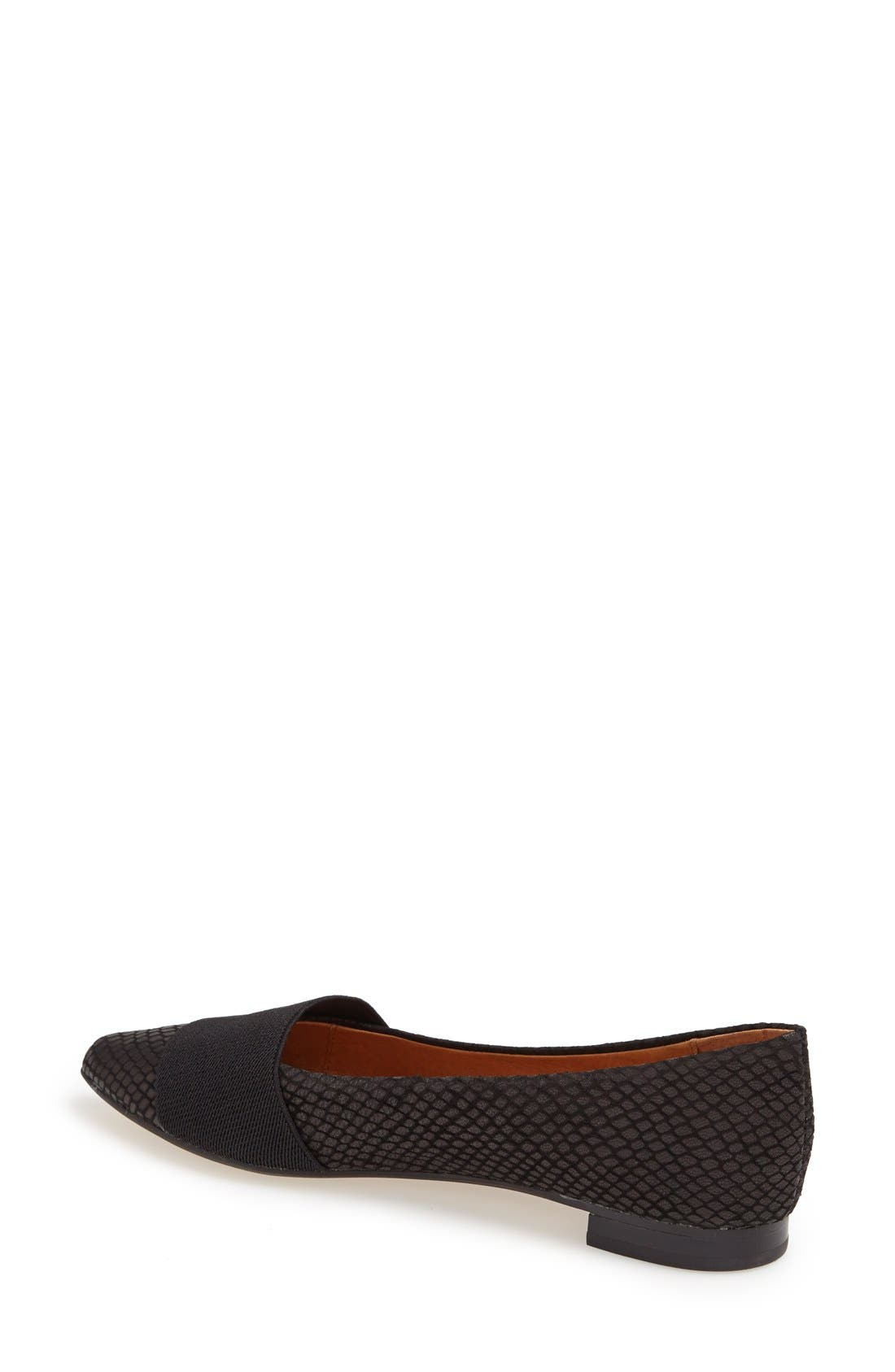 Alternate Image 2  - Halogen® 'Leah' Leather Flat (Women)