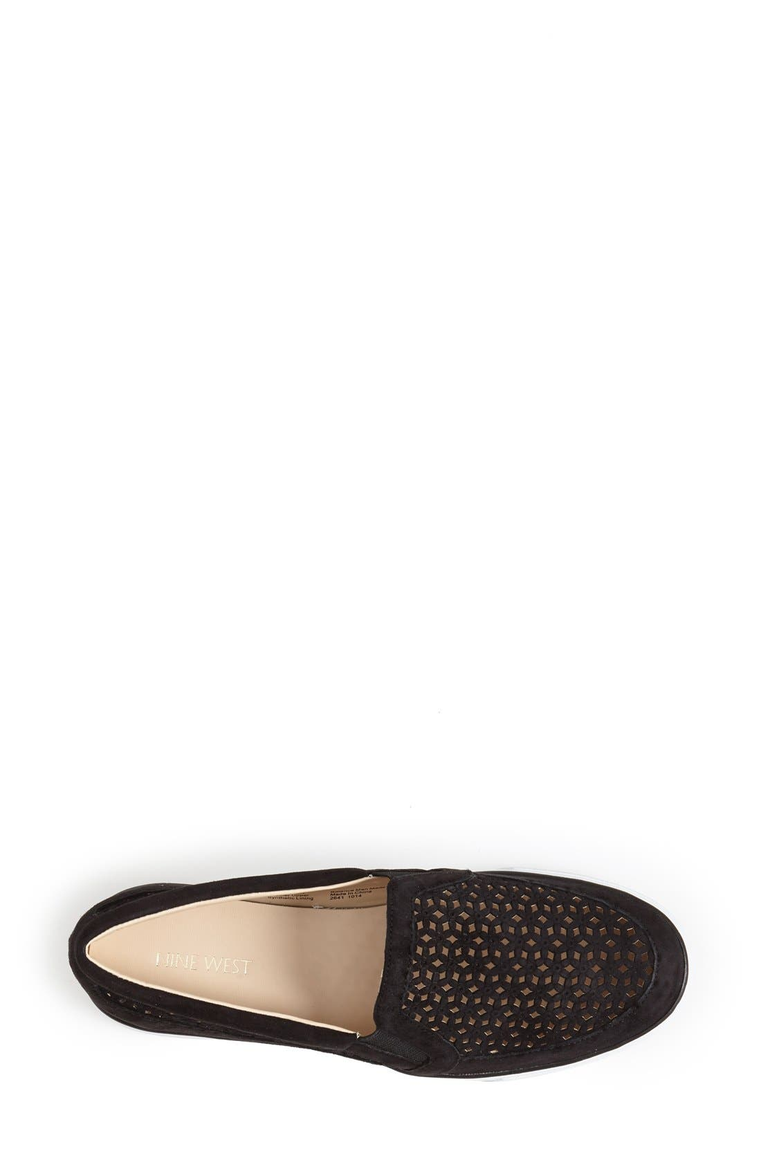 Alternate Image 3  - Nine West 'Banter' Perforated Suede Slip-On Sneaker (Women)