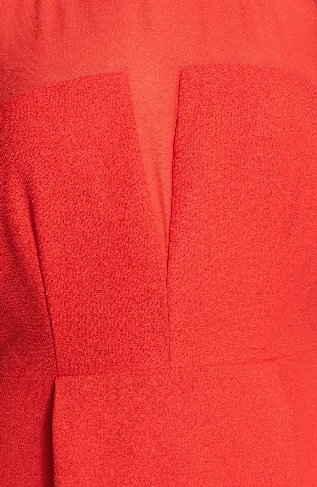 Alternate Image 3  - En Crème Illusion A-Line Dress (Juniors)