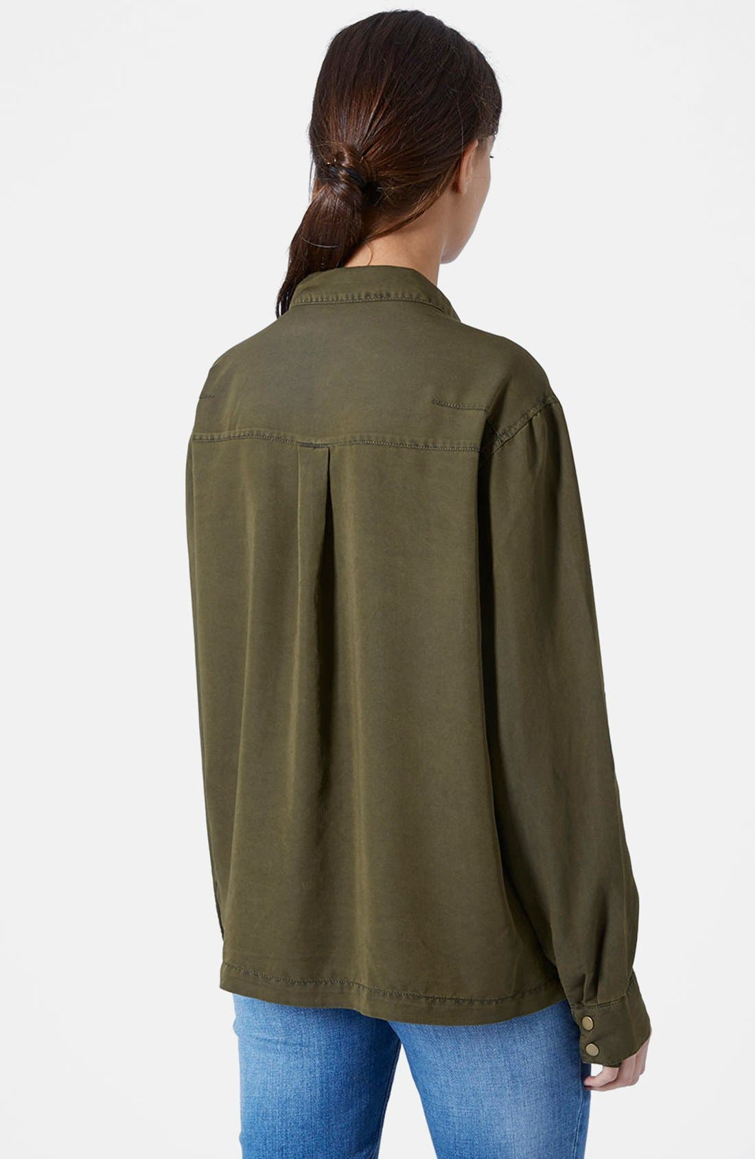 Alternate Image 2  - Topshop Casual Button Front Shirt