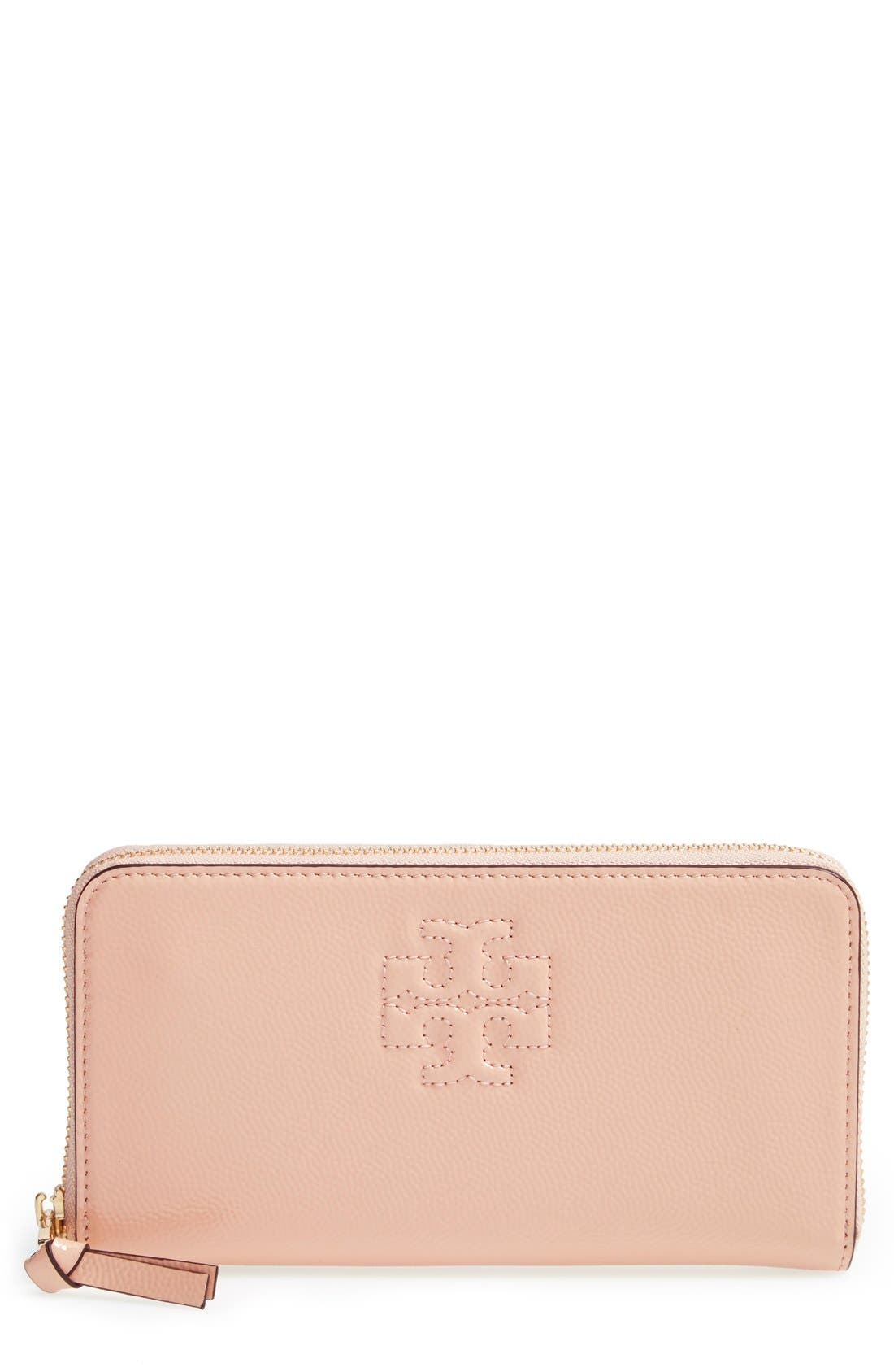 Main Image - Tory Burch 'Thea' Leather Zip Around Wallet