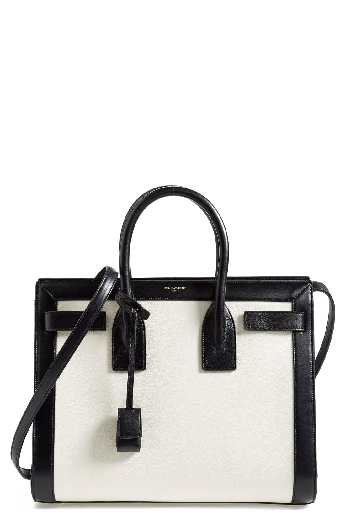 Main Image - Saint Laurent 'Small Sac de Jour' Colorblock Leather Tote