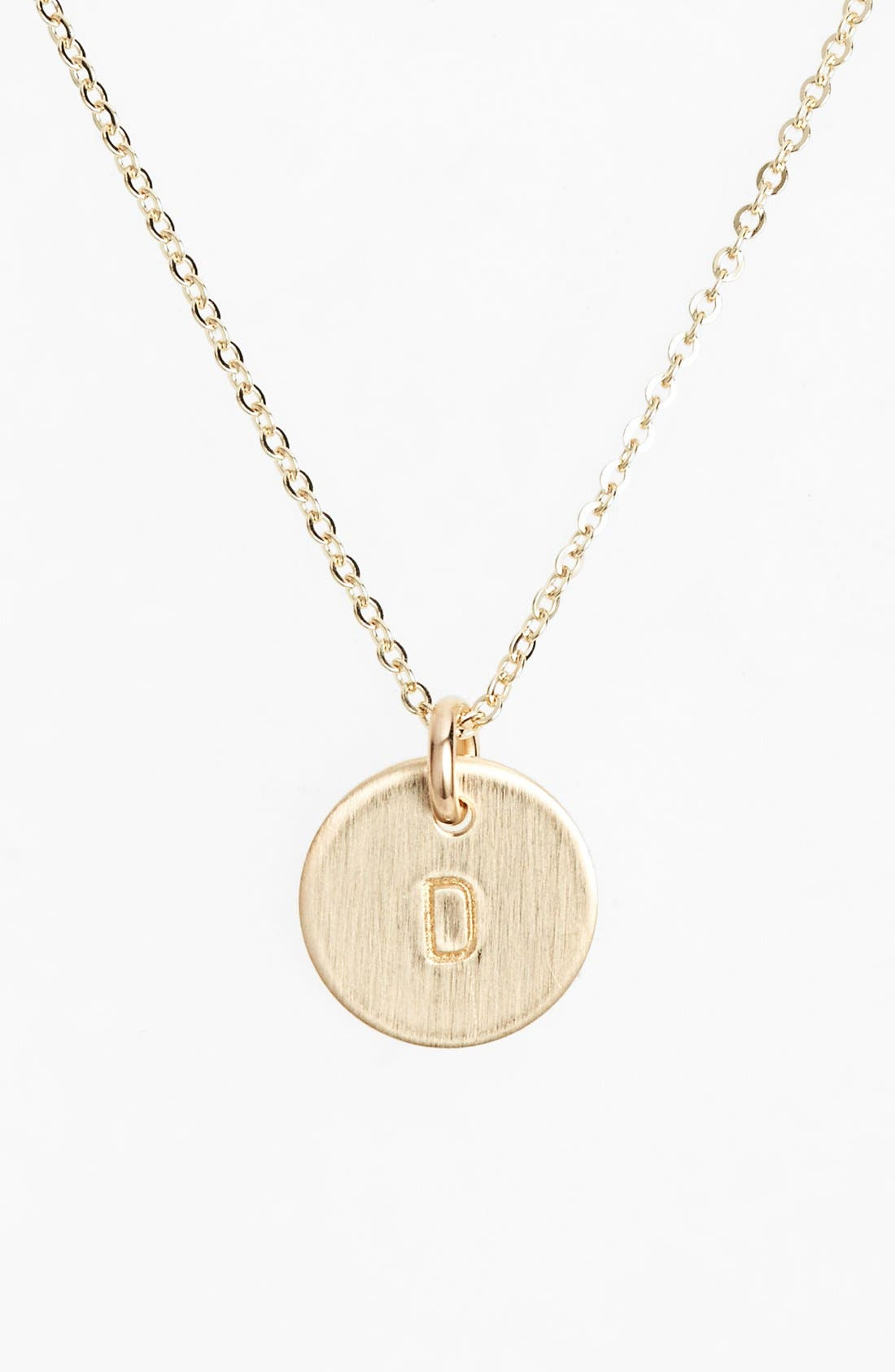 Main Image - Nashelle 14k-Gold Fill Initial Mini Circle Necklace