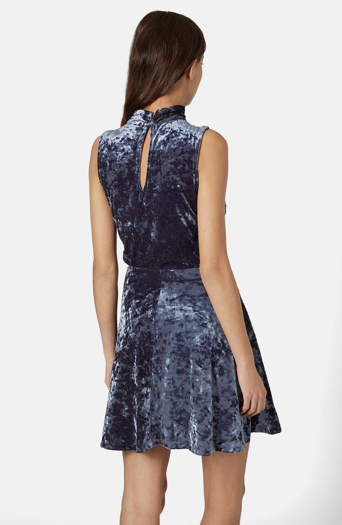 Alternate Image 2  - Topshop Cutout Velvet Dress