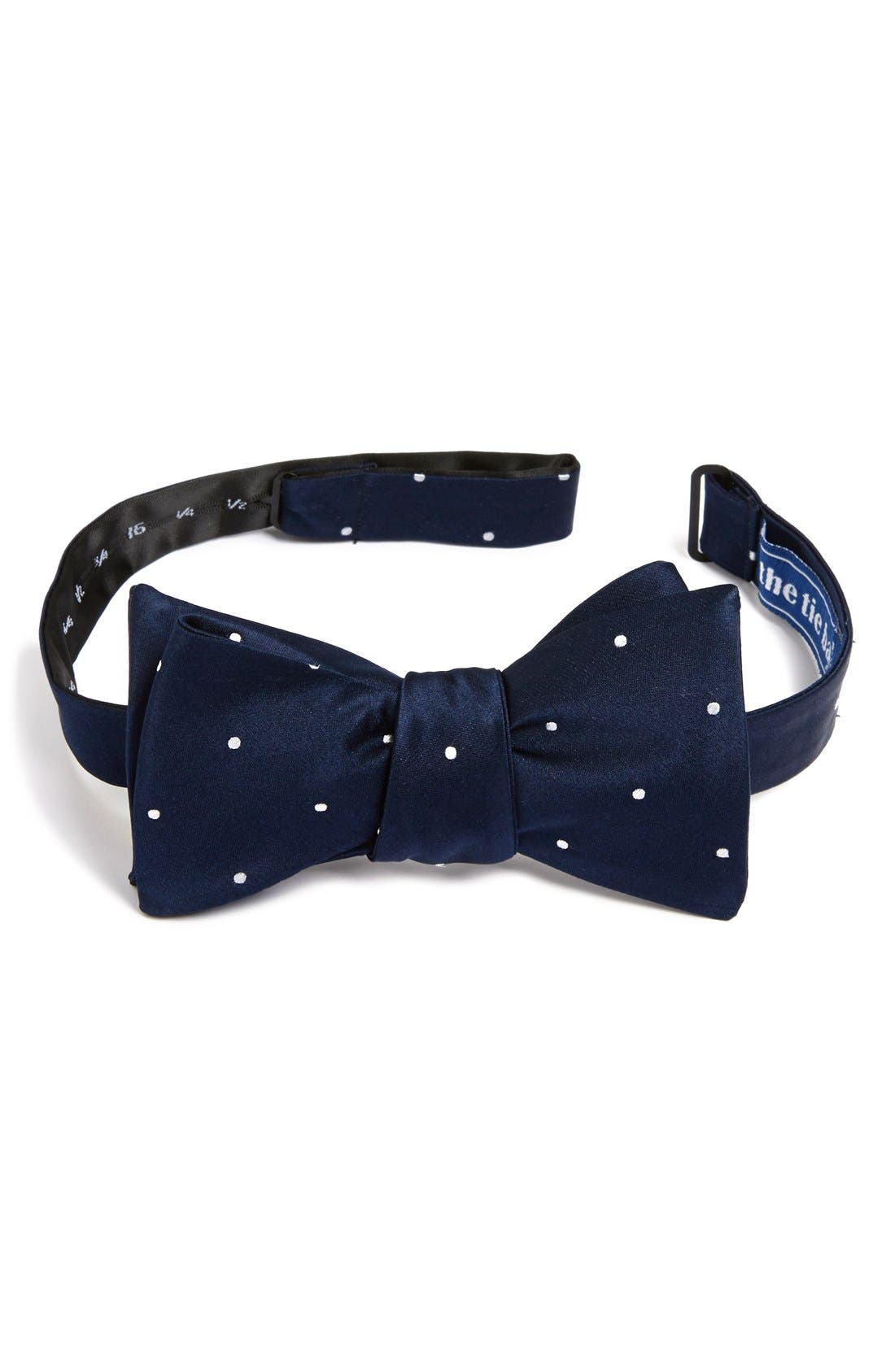 The Tie Bar Silk Dot Bow Tie (Online Only)
