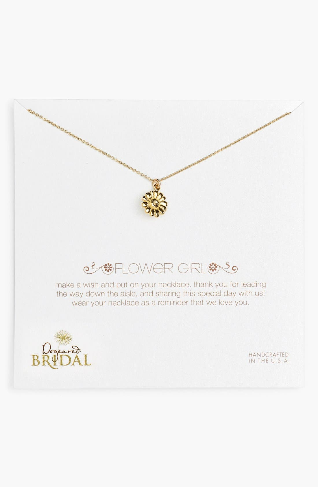 Main Image - Dogeared 'Flower Girl' Pendant Necklace (Nordstrom Exclusive)