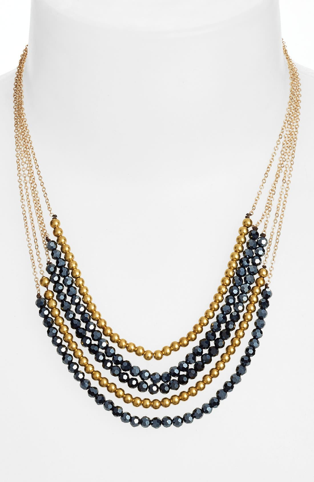 Alternate Image 2  - Panacea Boxed Crystal Multistrand Necklace