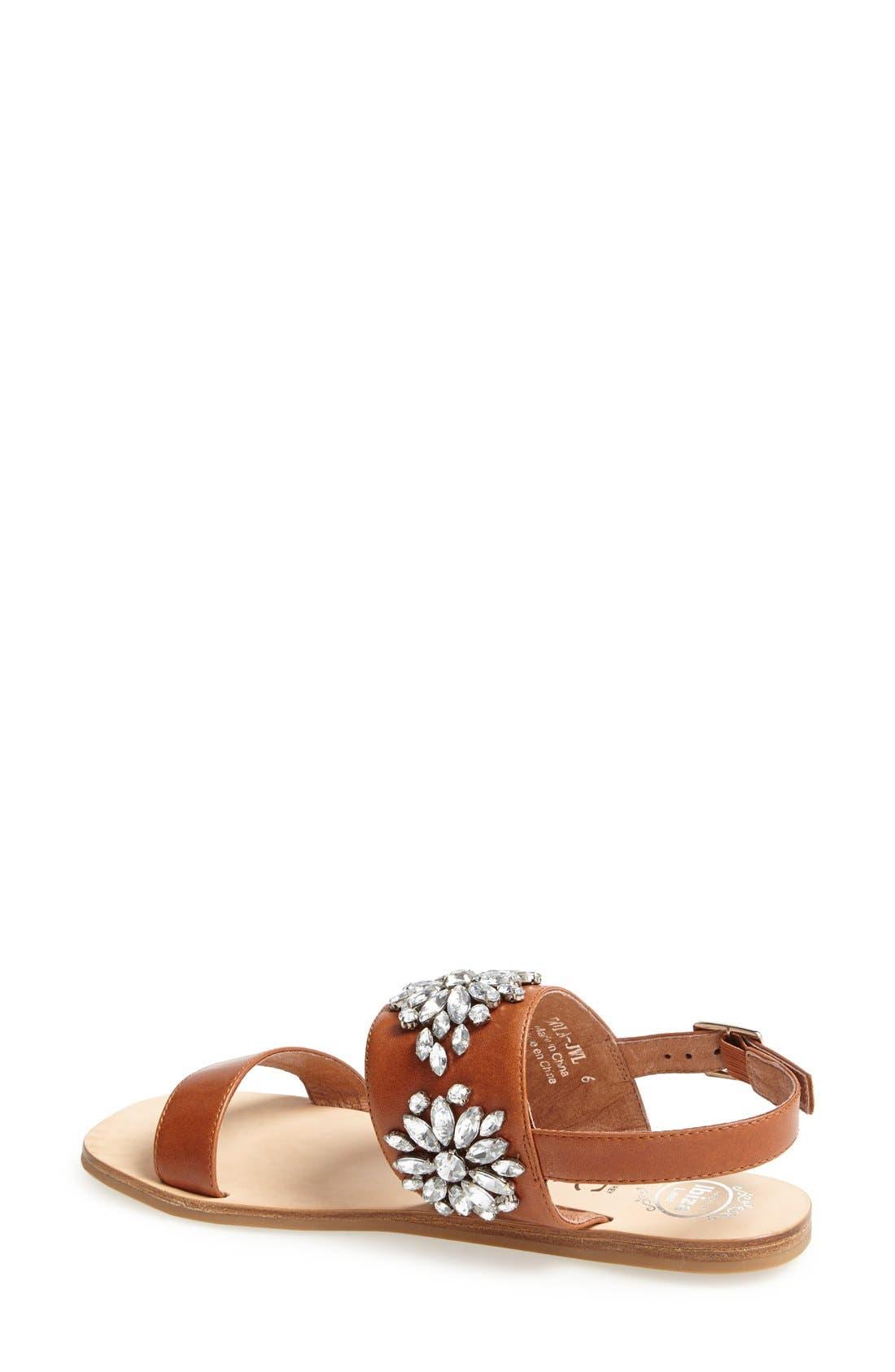 Alternate Image 2  - Jeffrey Campbell 'Dola' Jeweled Leather Sandal (Women)