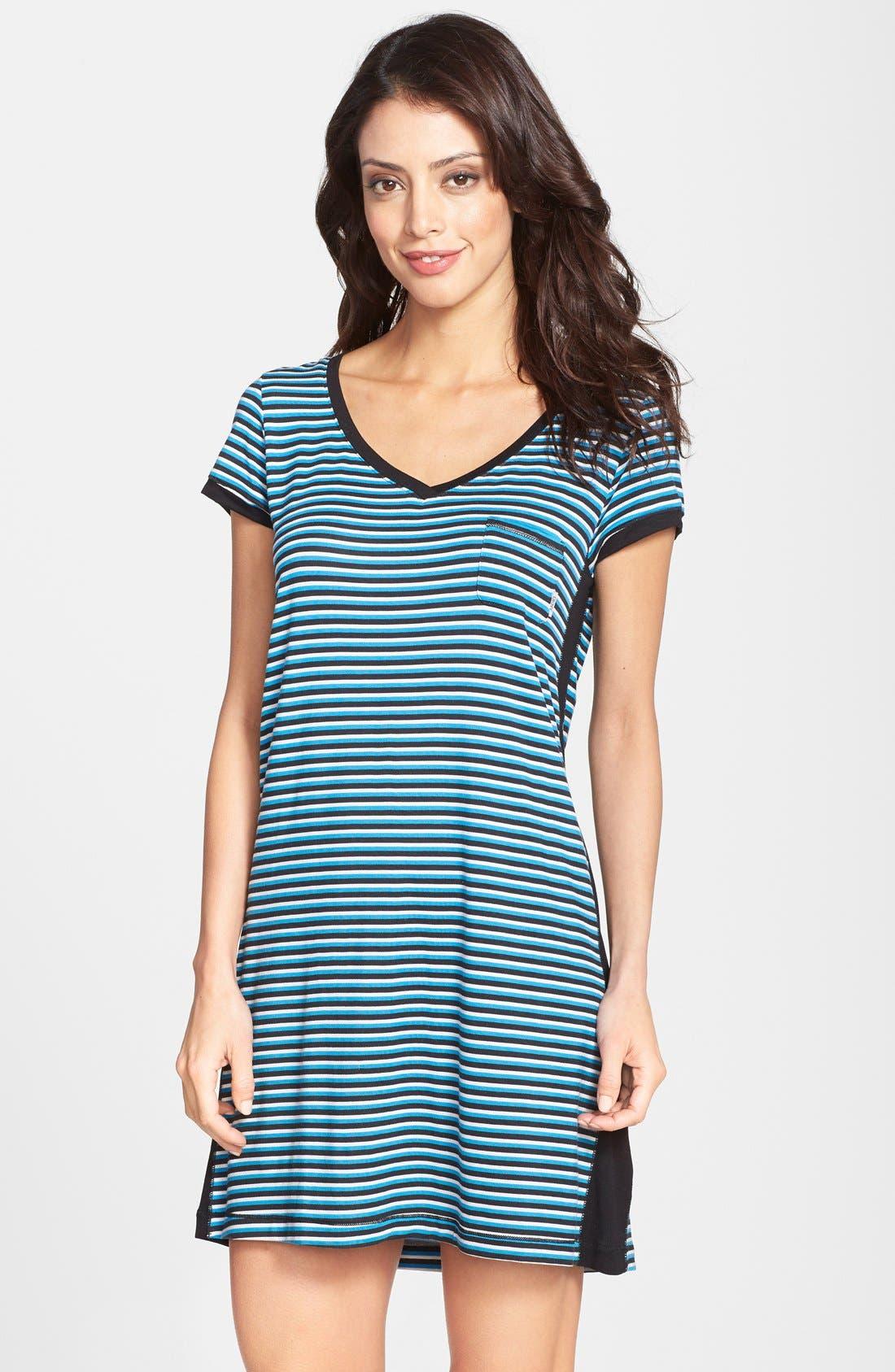 Alternate Image 1 Selected - DKNY 'City Essential' Stripe Jersey Sleep Shirt