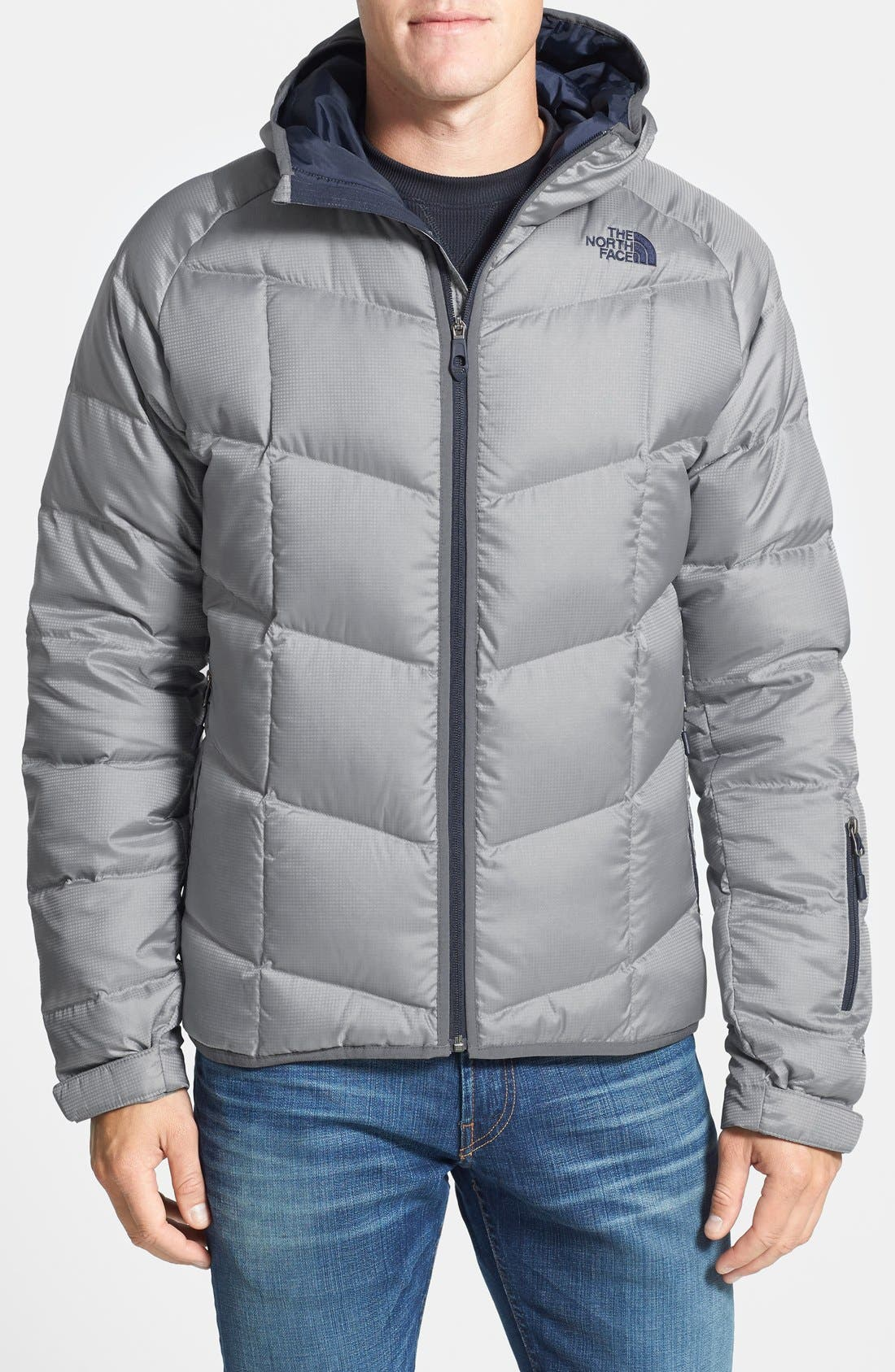 Alternate Image 1 Selected - The North Face 'Gatebreak' Water Repellent 550-Fill Hooded Down Jacket