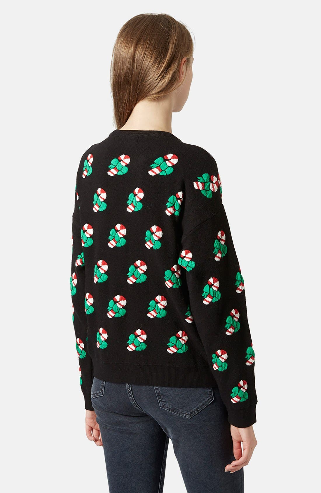 Alternate Image 2  - Topshop Candy Cane Sweater