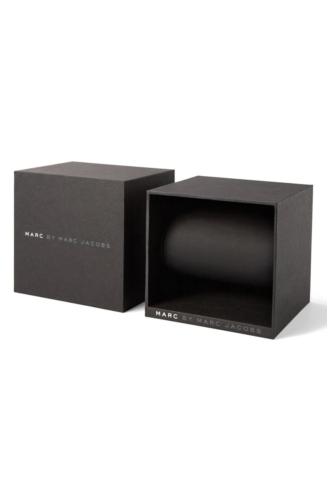 Alternate Image 4  - MARC JACOBS 'Amy' Leather Strap Watch, 36mm