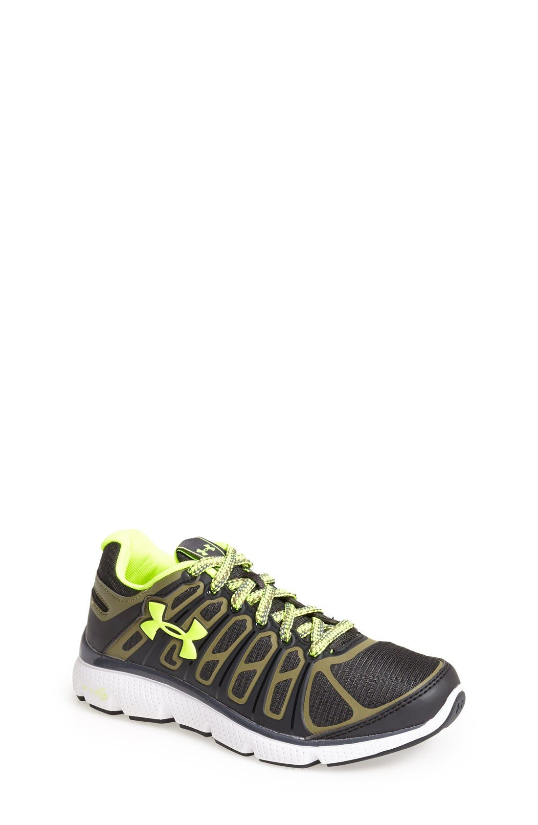 Under Armour 'BGS Micro G® Pulse II Grit' Running Shoe (Big Kid)