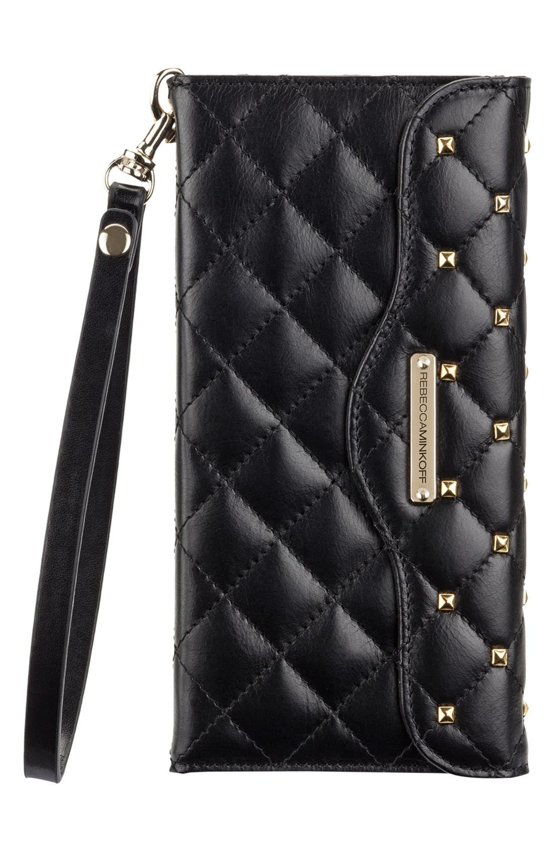 Alternate Image 1 Selected - Rebecca Minkoff x Case-Mate iPhone 6 Plus Quilted Wristlet