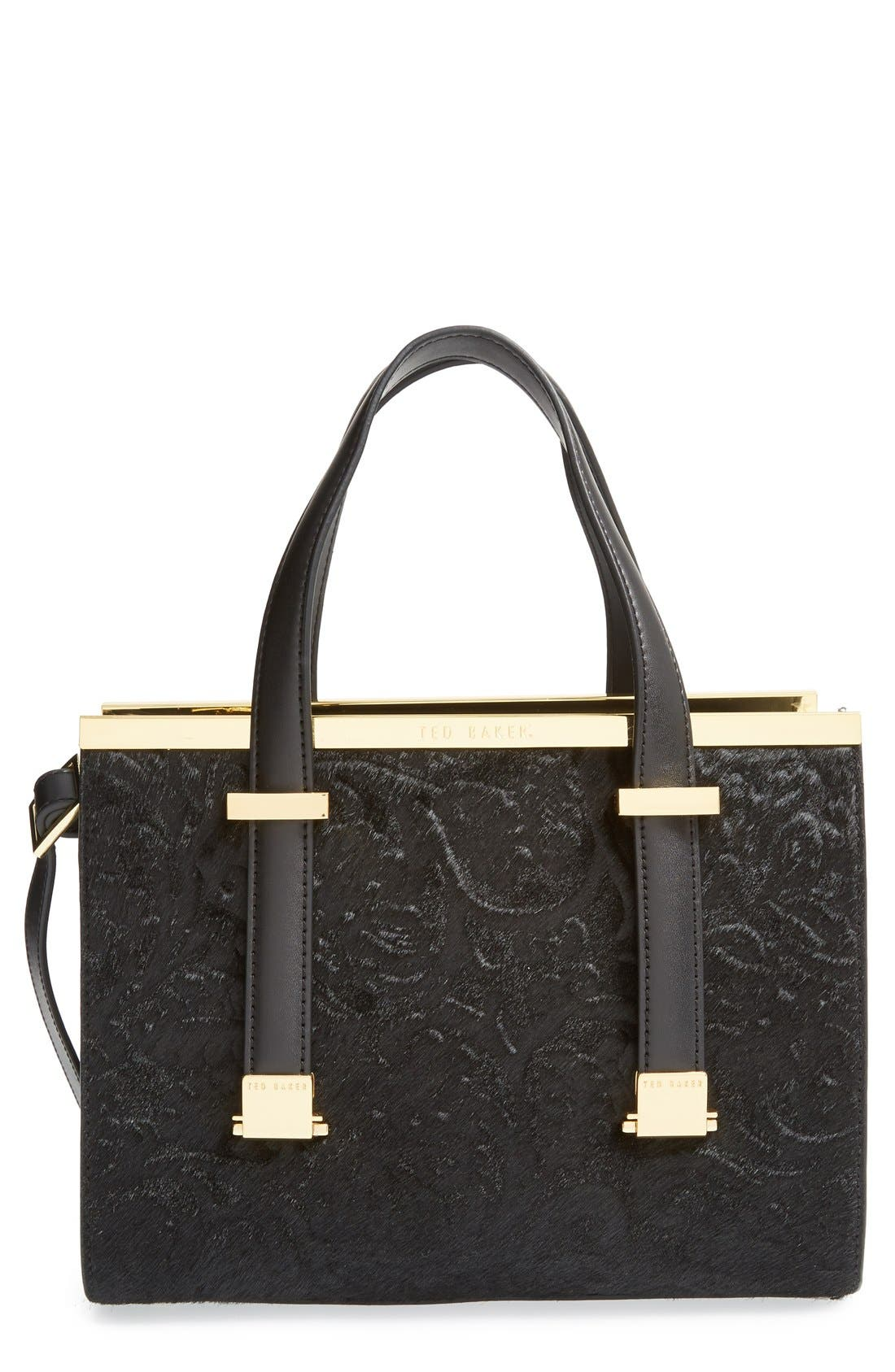 Main Image - Ted Baker London 'Minipel' Textured Metal Tote