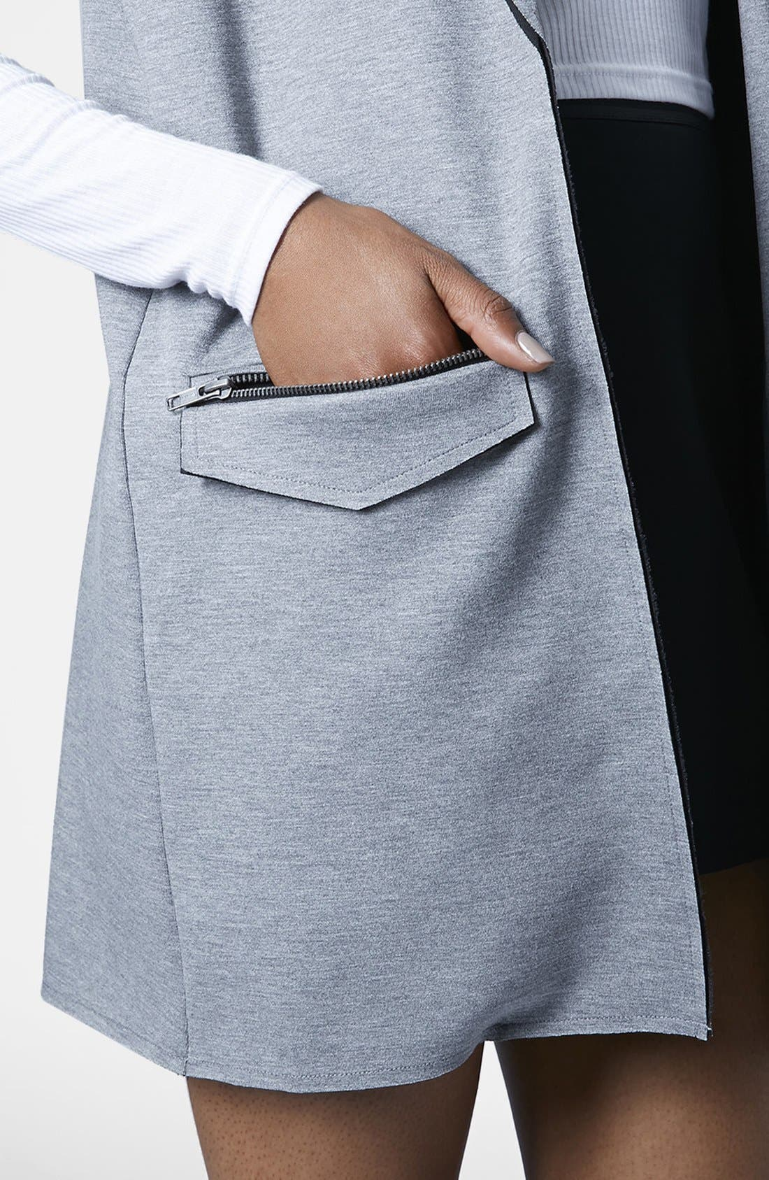 Alternate Image 4  - Topshop Long Utility Vest