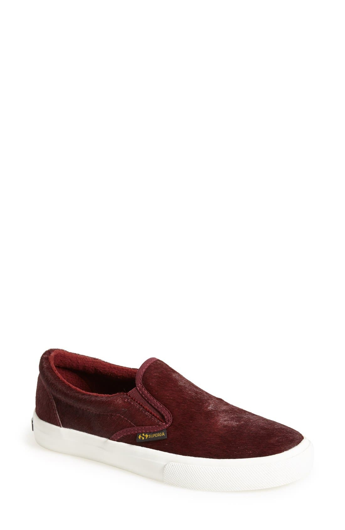 Alternate Image 1 Selected - Superga Calf Hair Slip-On Sneaker (Women)