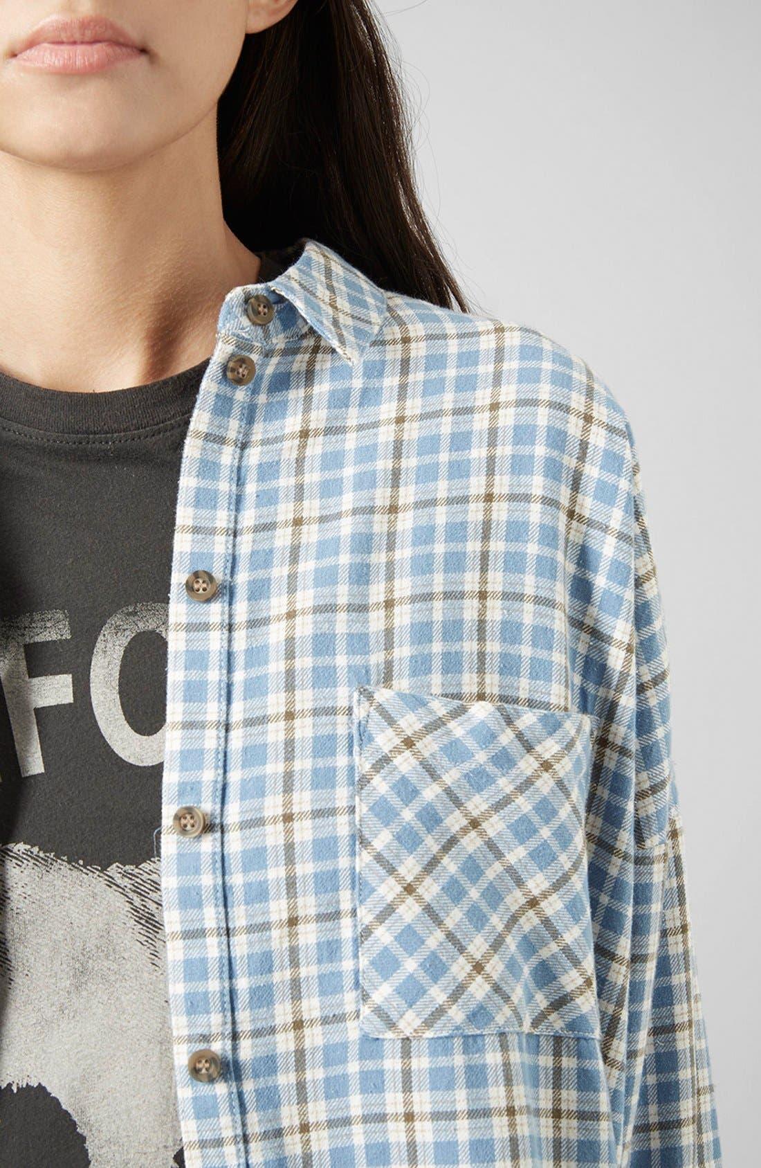 Alternate Image 4  - Topshop 'George Bobbi' Oversize Check Shirt