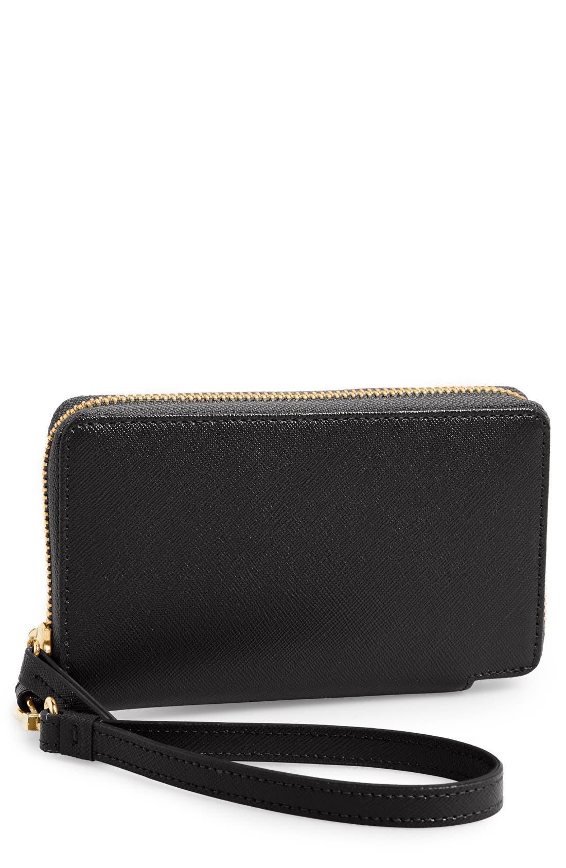 Main Image - Halogen® 'Cassie' Saffiano Leather Zip Around Wallet