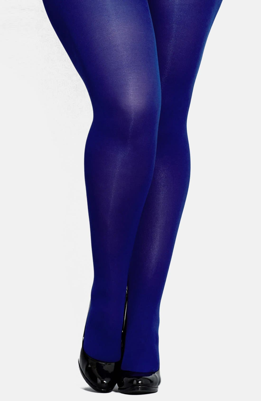 Alternate Image 1 Selected - City Chic Opaque Tights (Plus Size)