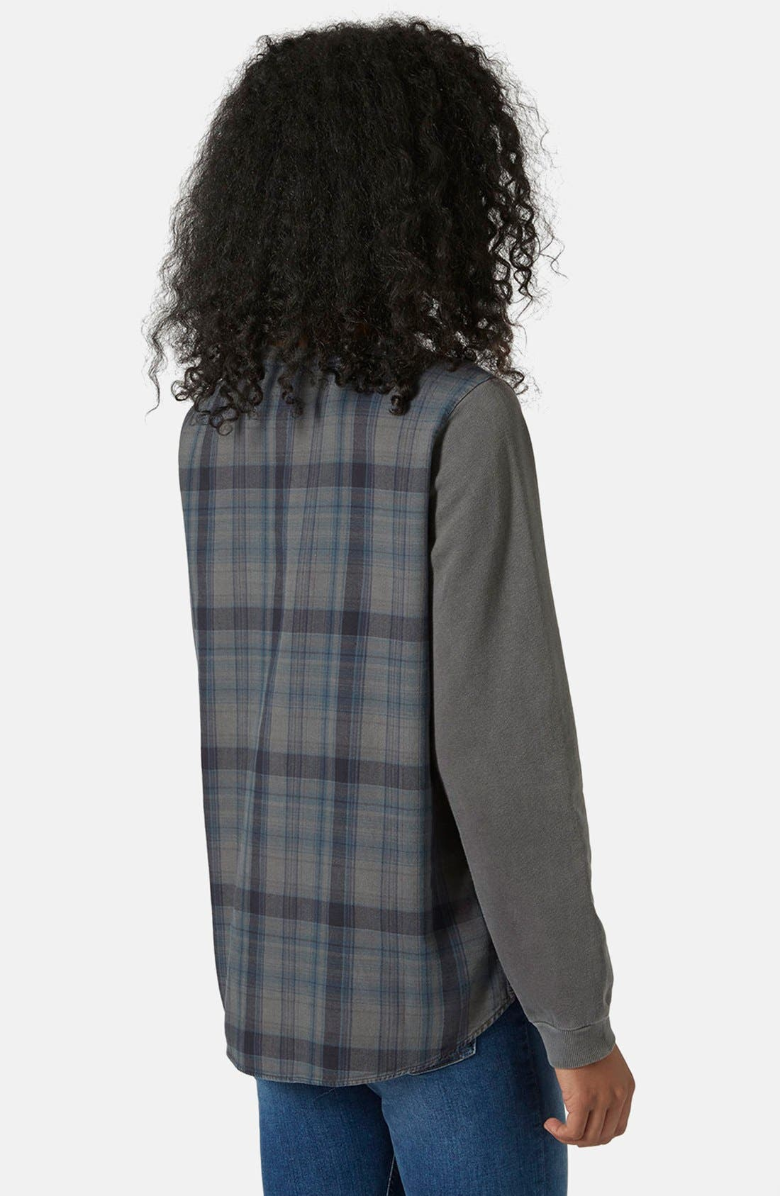Alternate Image 2  - Topshop Check Contrast Sweater